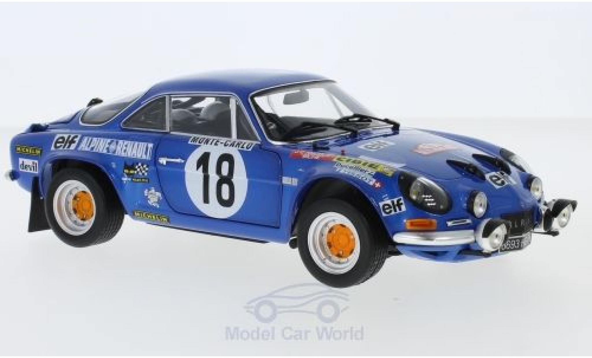 Alpine A110 1/18 Kyosho No.18 Rallye Monte Carlo 1973 J-C.Andruet/Biche