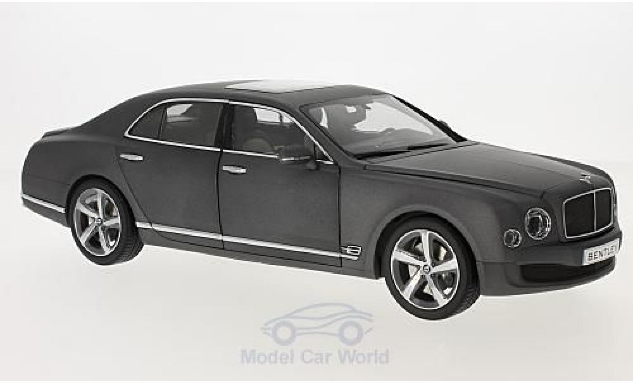 Bentley Mulsanne 1/18 Kyosho Speed matt-grigio 2014