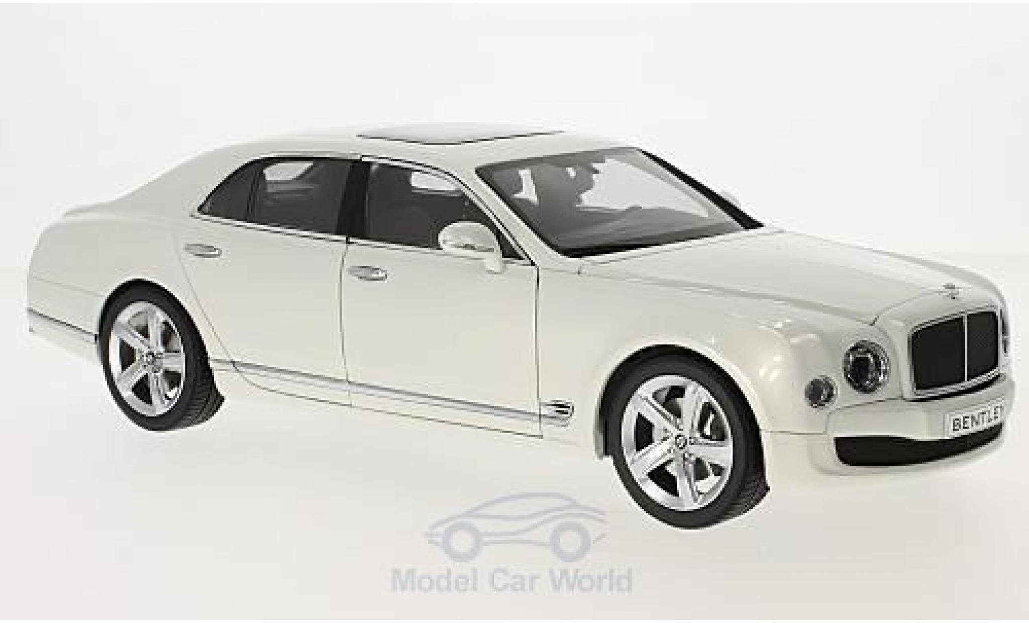 Bentley Mulsanne 1/18 Kyosho Speed bianco 2014