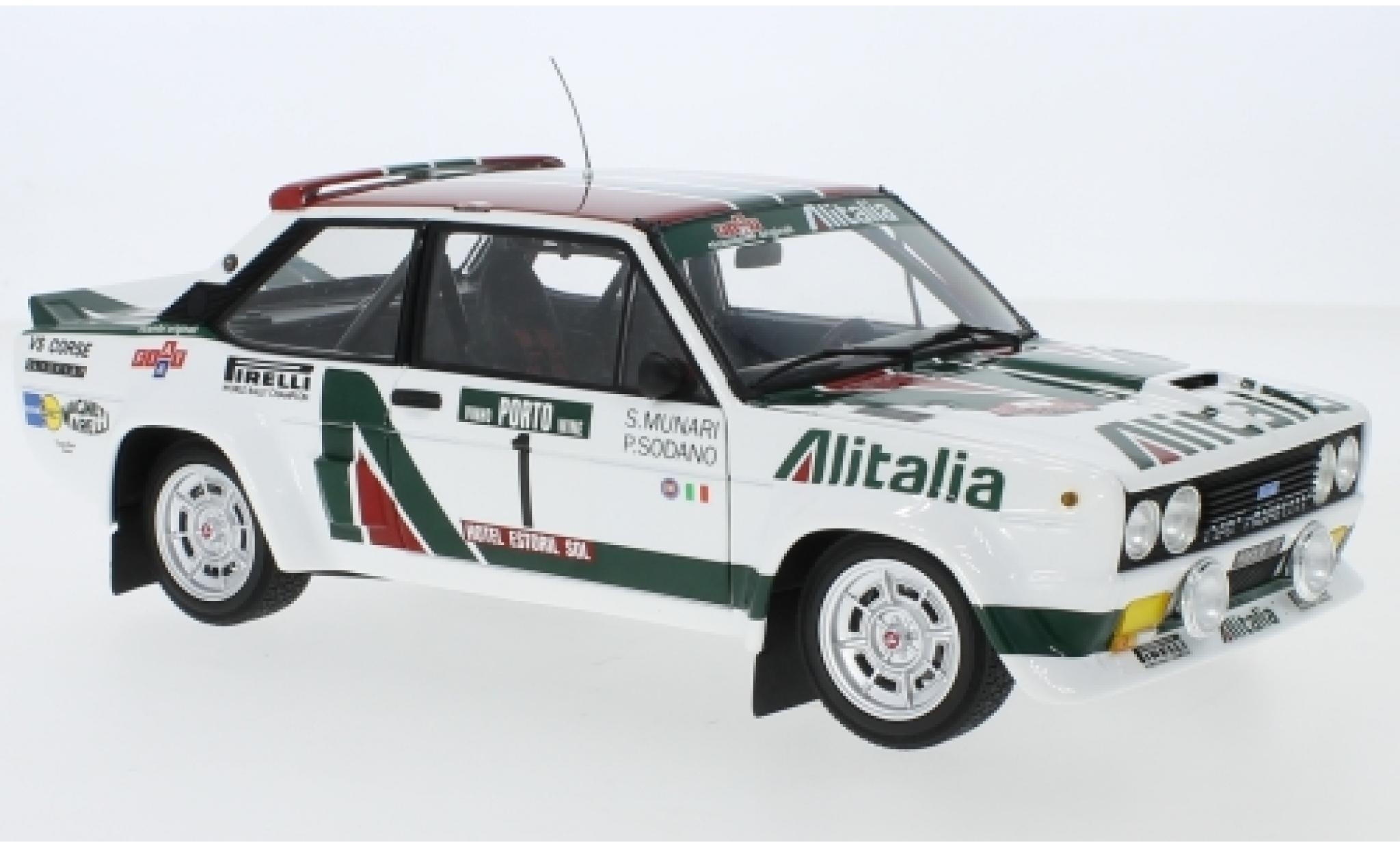 Fiat 131 1/18 Kyosho Abarth No.1 Alitalia Alitalia Rallye WM Rally Portugal 1978 S.Munari/P.Sodano