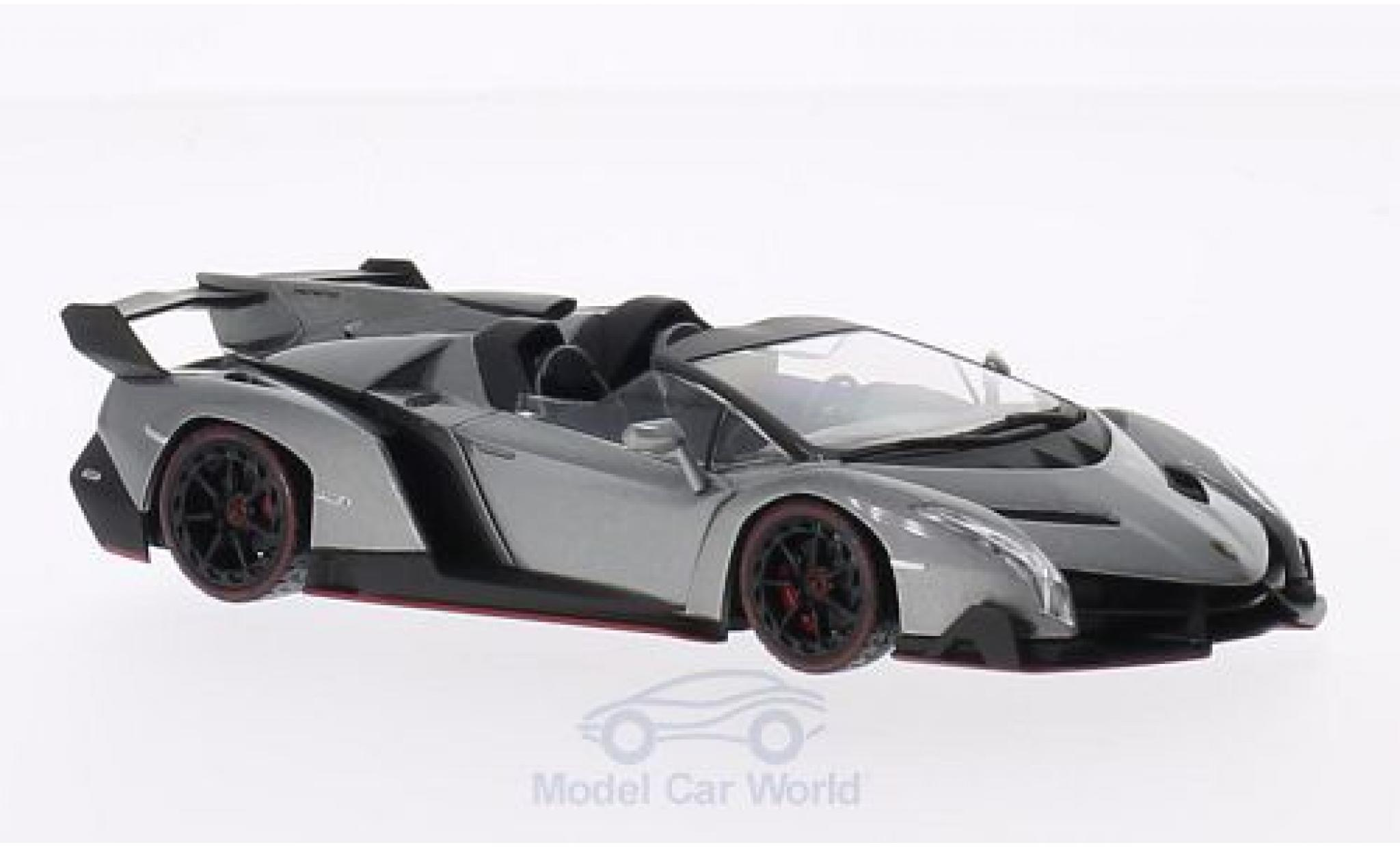 Lamborghini Veneno 1/43 Kyosho Roadster metallise grey/green