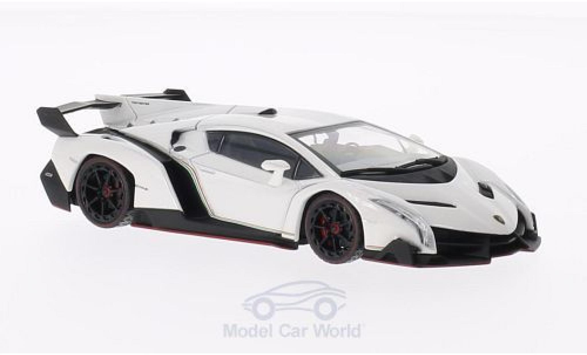 Lamborghini Veneno 1/43 Kyosho white mit redem Dekorstreifen