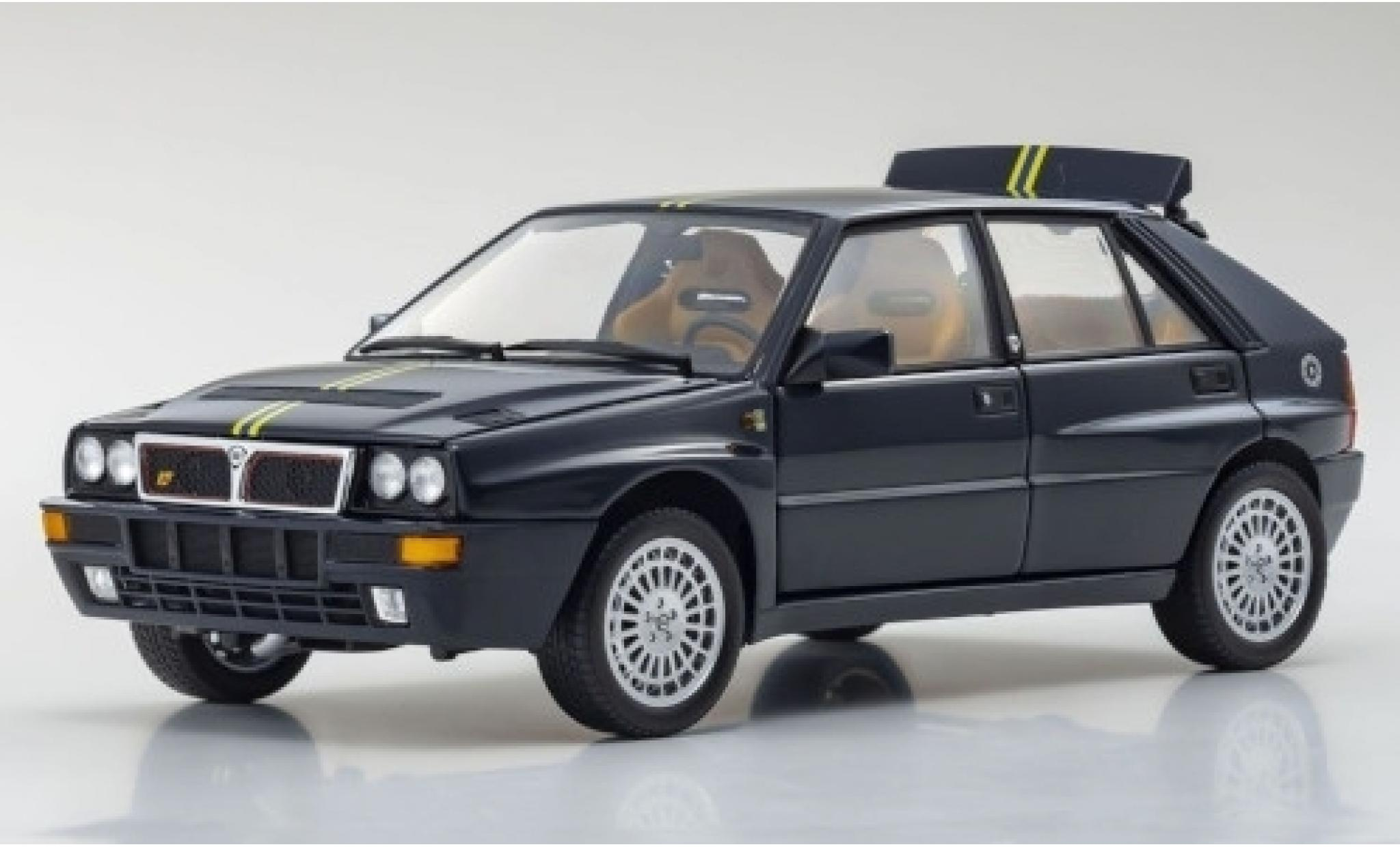 Lancia Delta 1/18 Kyosho HF Integrale Evoluzione II Club Hi-Fi bleue/Dekor 1992