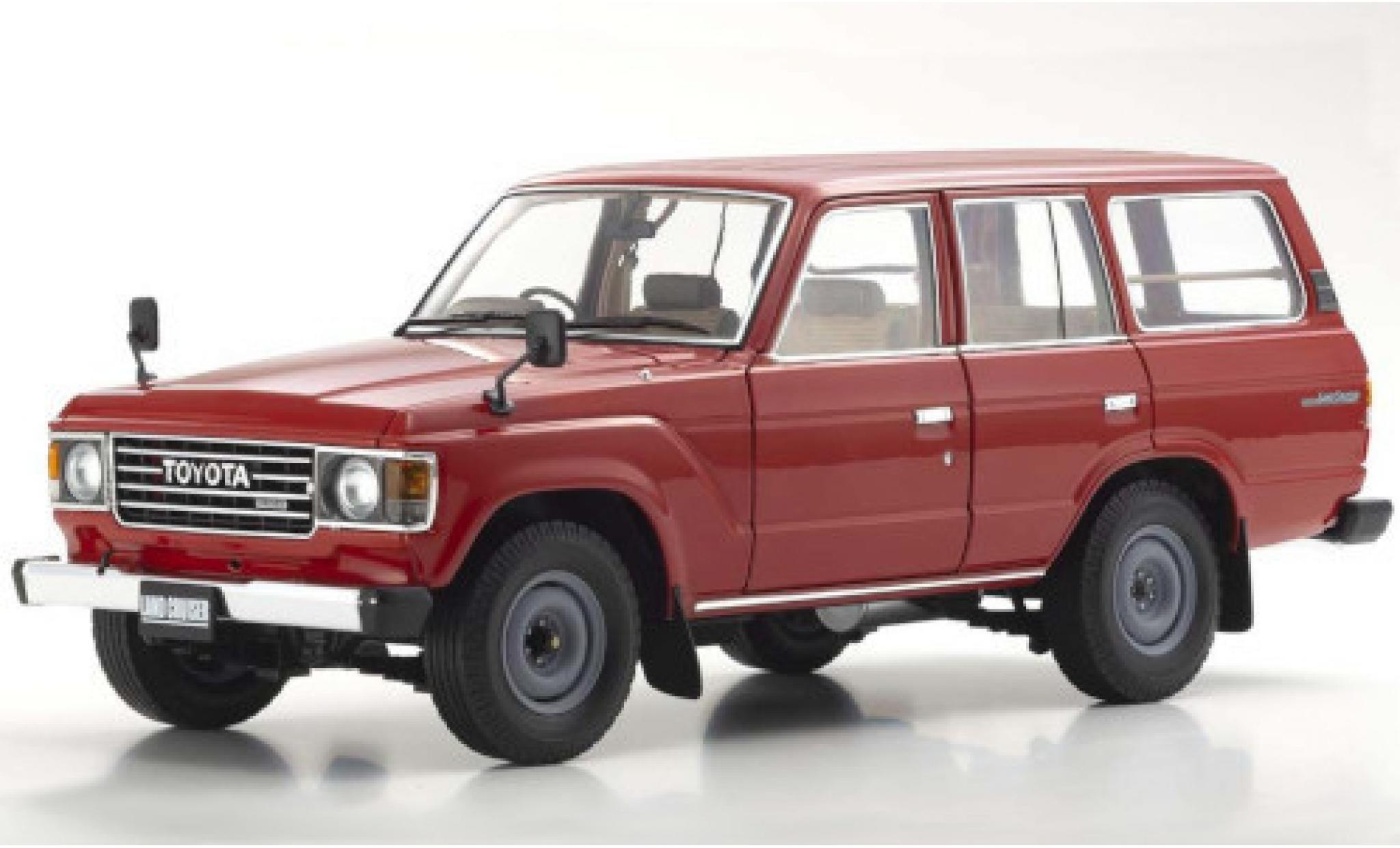 Toyota Land Cruiser 1/18 Kyosho 60 rouge RHD