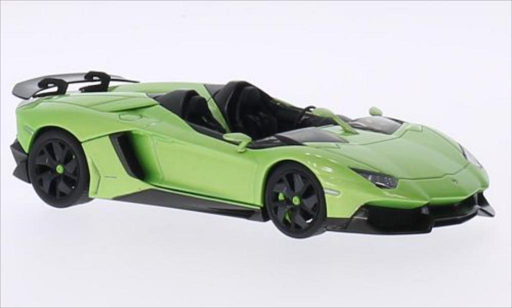 Lamborghini Aventador J 1/43 Autoart Roadster metallise grun 2012 diecast model cars