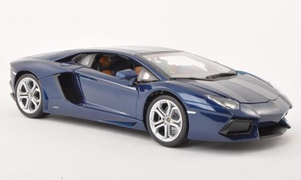 Lamborghini Aventador LP700-4 1/18 Burago bleu 2011 modellino in miniatura