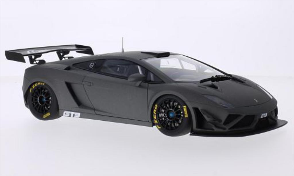 Lamborghini Gallardo 1/18 Autoart GT3 FL2 matt-grise 2013 miniature