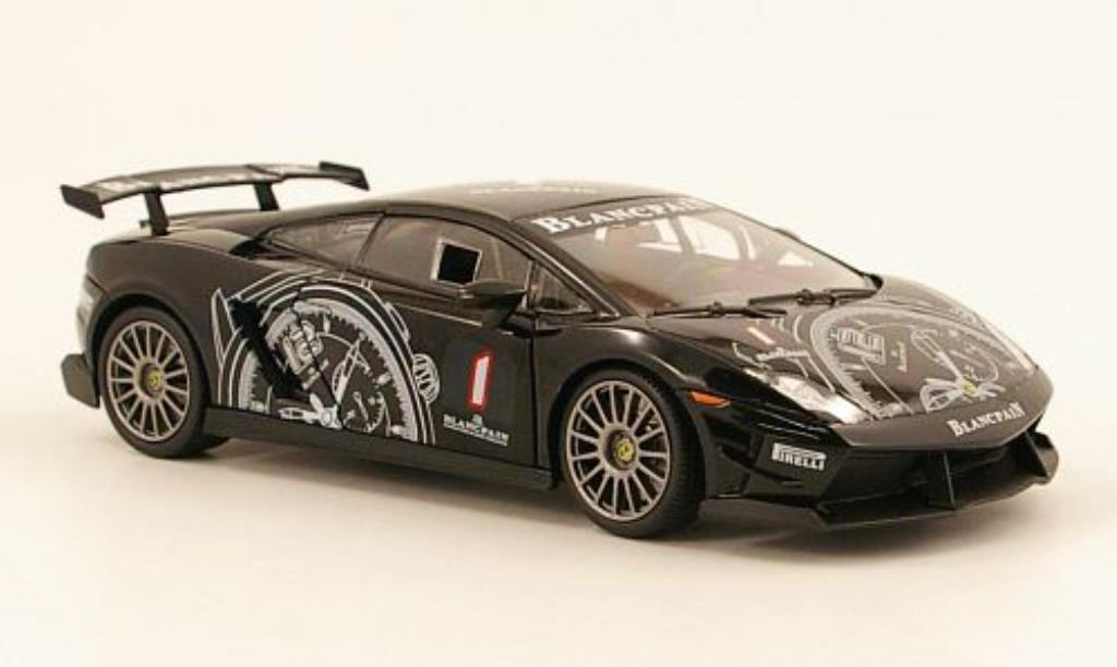 Lamborghini Gallardo 1/24 Motormax LP 560 Super Trofeo No.1 noire miniature