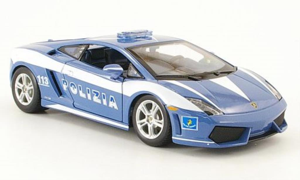 Lamborghini Gallardo LP560-4 1/24 Maisto Polizia Polizei miniature