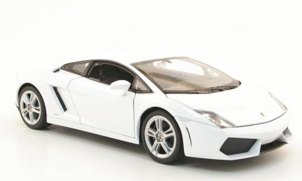 Miniature Lamborghini Gallardo LP560-4 blanche Welly. Lamborghini Gallardo LP560-4 blanche miniature 1/24