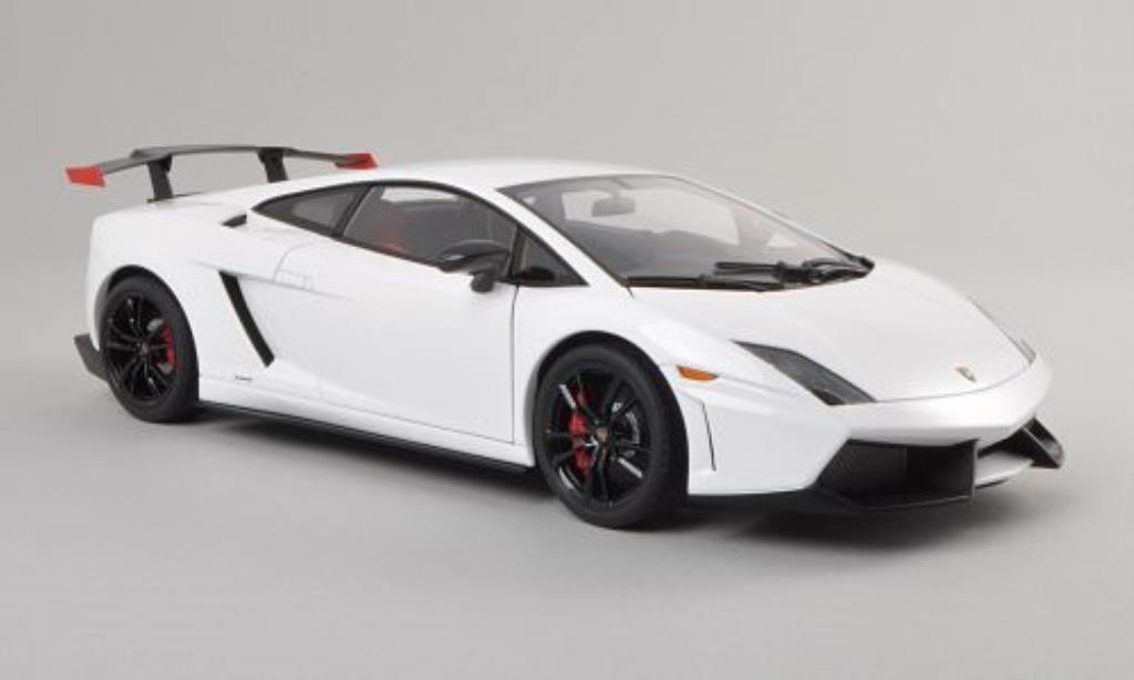 Lamborghini Gallardo 1/18 Autoart LP570 Supertrofeo Stradale blanche/noire 2011 miniature