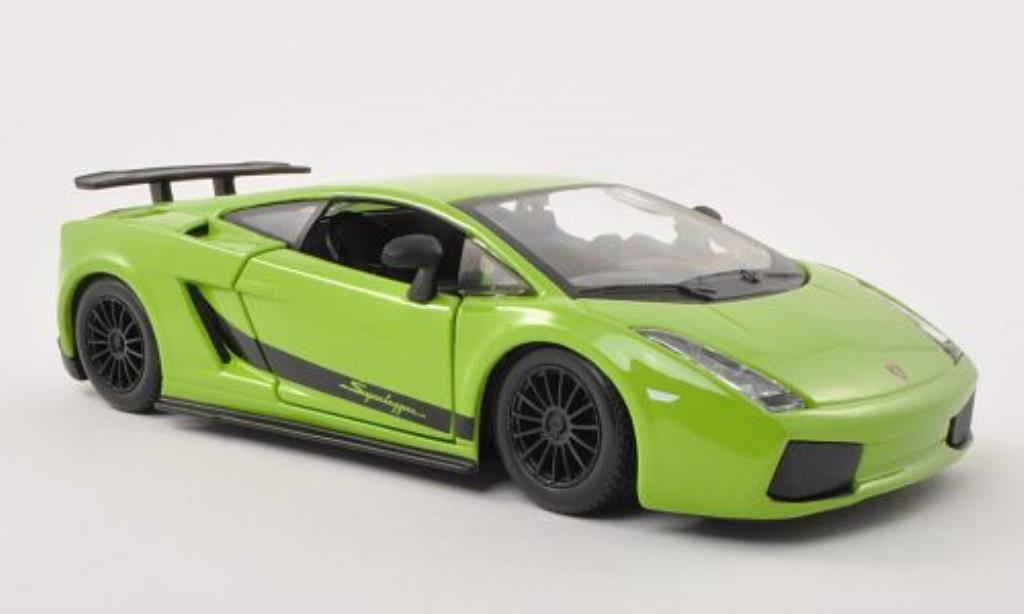 Lamborghini Gallardo Superleggera 1/24 Burago verte 2003 miniature