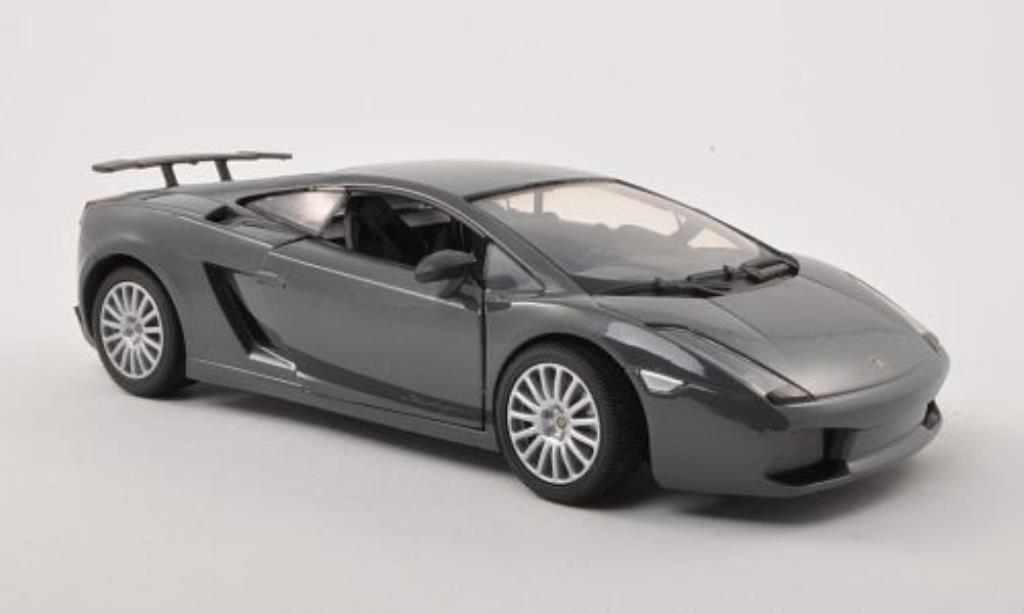 Lamborghini Gallardo Superleggera 1/24 Motormax grise/noire miniature