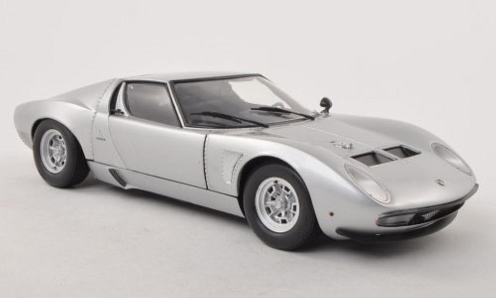 lamborghini miura jota svj silber kyosho modellauto 1 18. Black Bedroom Furniture Sets. Home Design Ideas