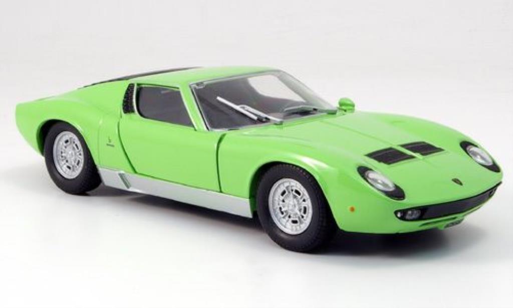 Lamborghini Miura P400 1/24 Motormax S grun miniature