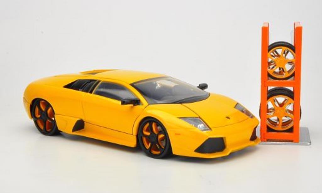 Lamborghini Murcielago LP640 1/24 Jada Toys Tuning jaune miniature
