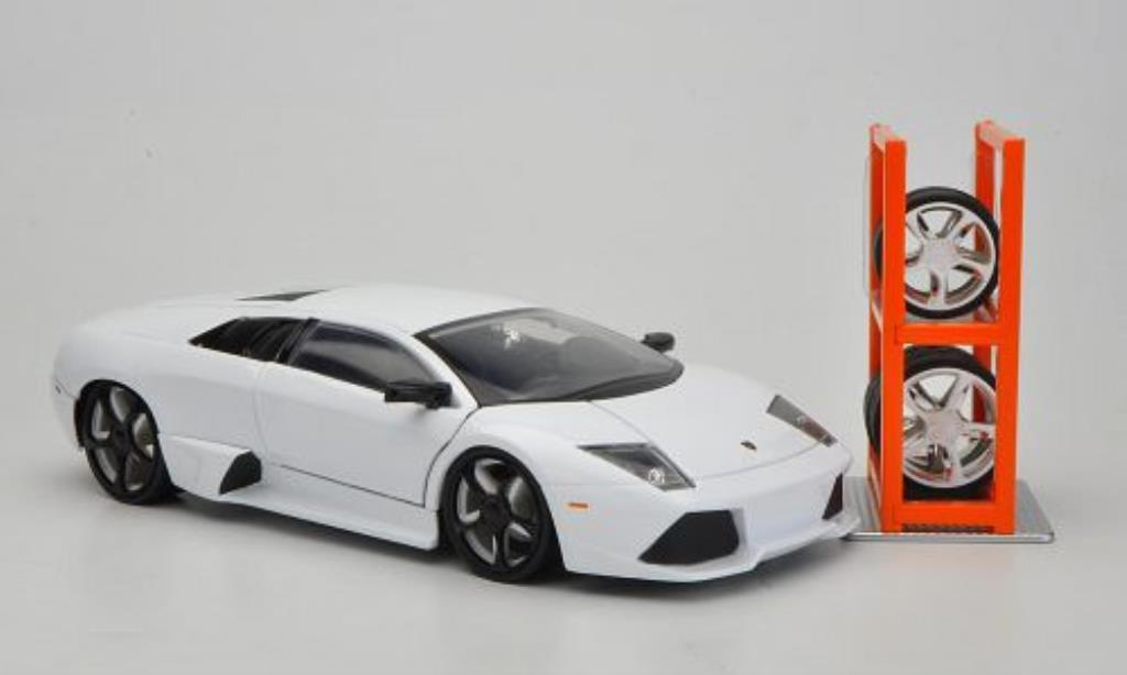 Lamborghini Murcielago LP640 1/24 Jada Toys Toys Tuning blanche miniature
