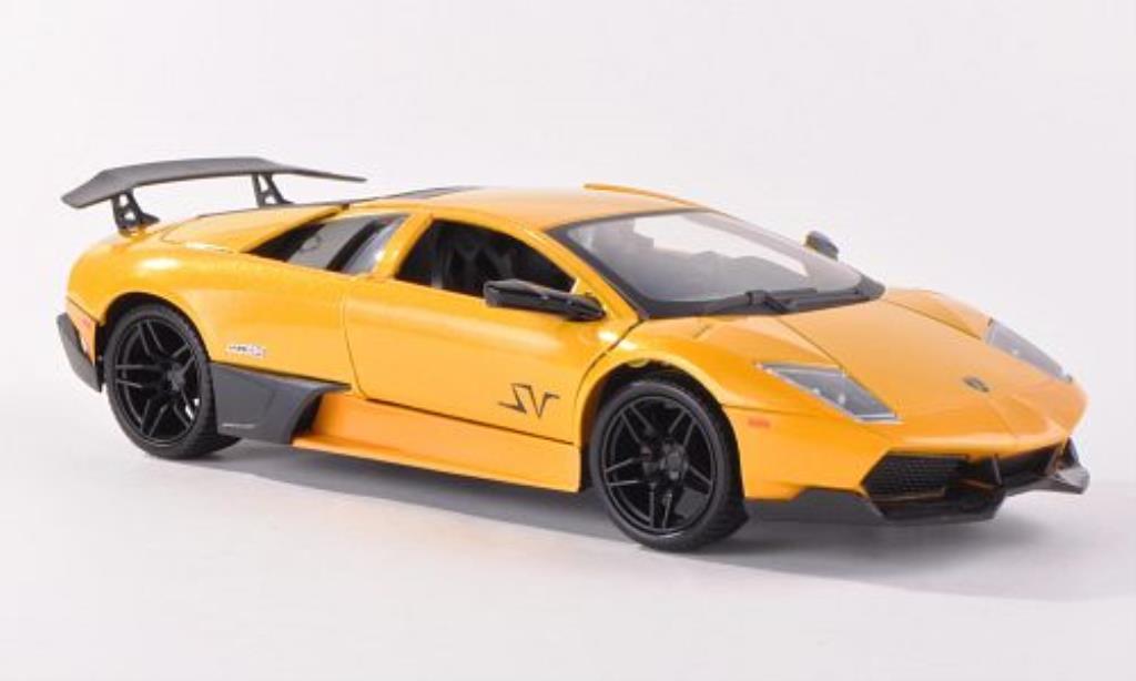 Lamborghini Murcielago LP670-4 1/24 Motormax SV jaune/matt-noire miniature