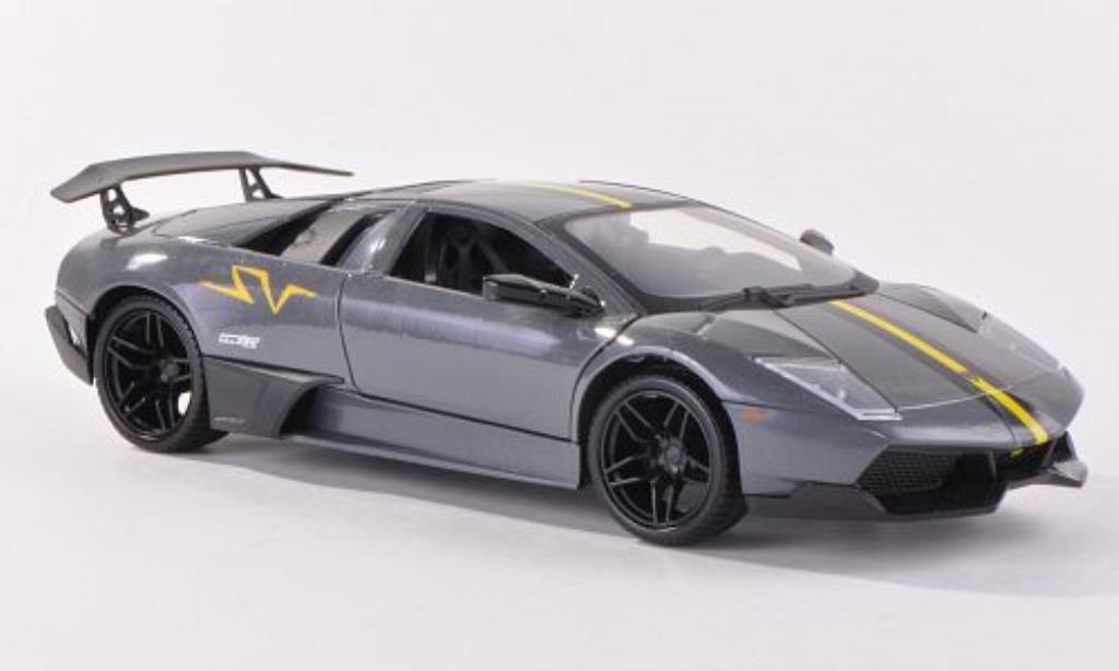 Lamborghini Murcielago LP670-4 1/24 Motormax SV grise/matt-noire miniature