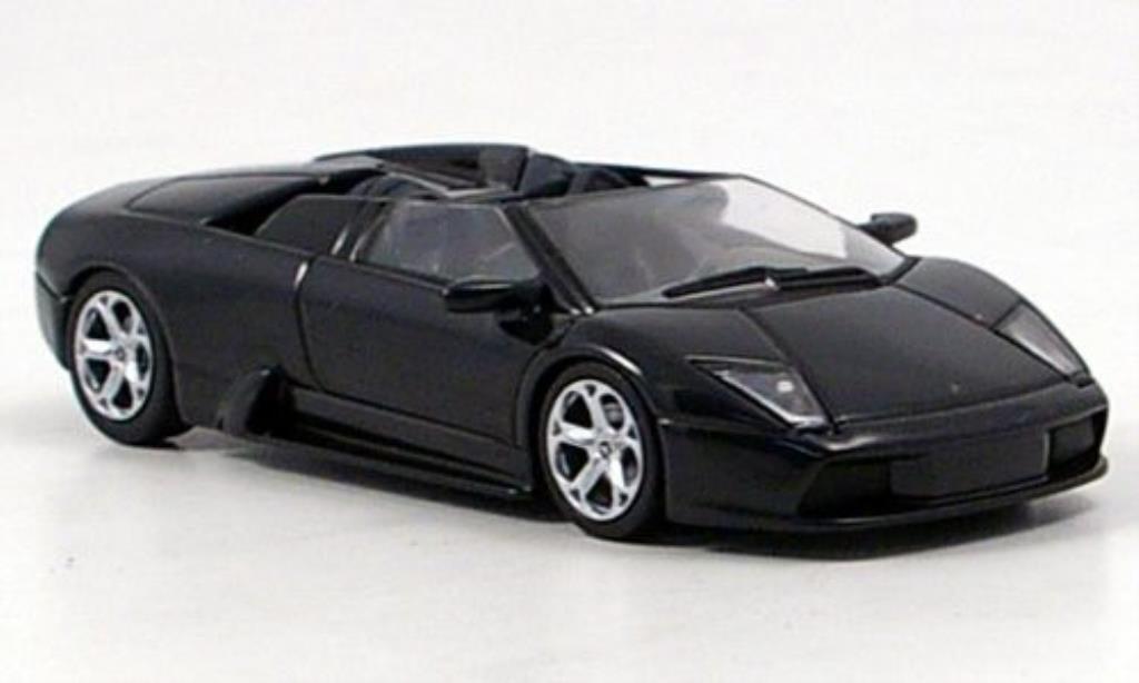Lamborghini Murcielago Roadster 1/64 Autoart noire miniature