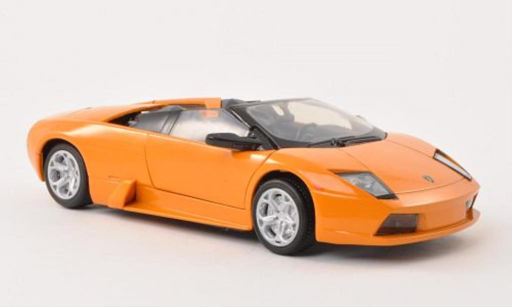 Lamborghini Murcielago Roadster 1/24 Motormax orange diecast model cars