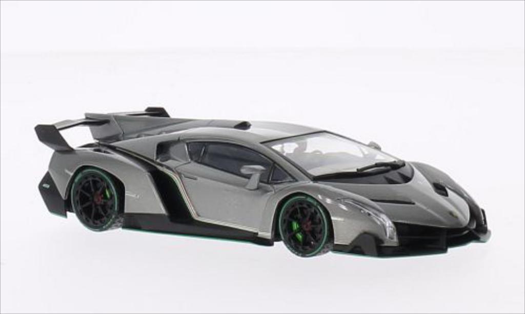 Lamborghini Veneno 1/43 Kyosho metallic-grise/verte miniature