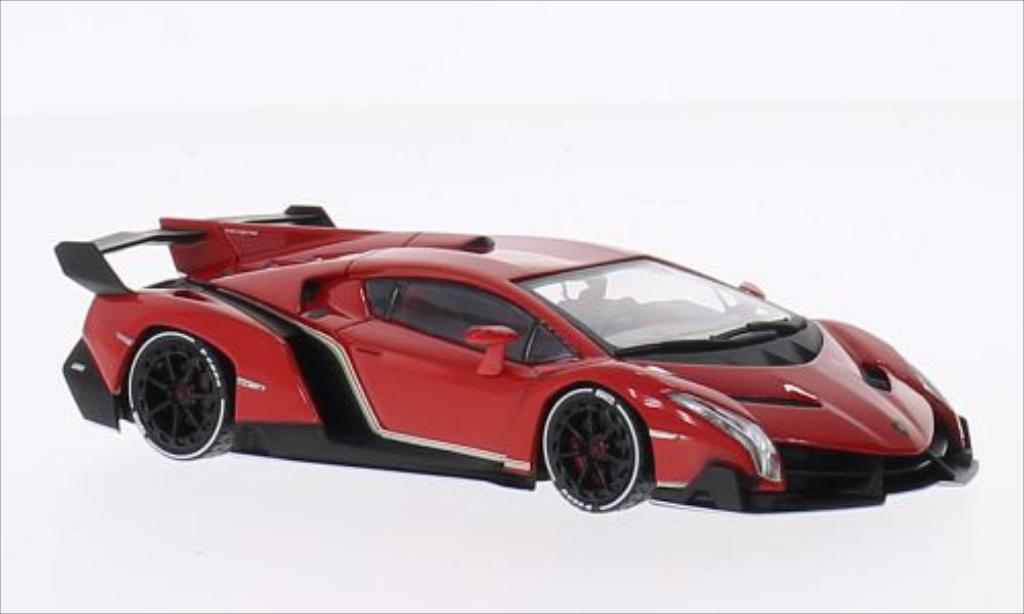 Lamborghini Veneno 1/43 Kyosho metallise red/white diecast model cars