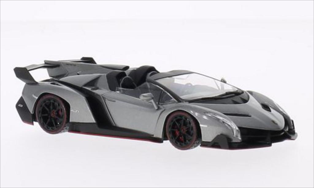 Lamborghini Veneno 1/43 Kyosho Roadster metallic-grise/verte miniature