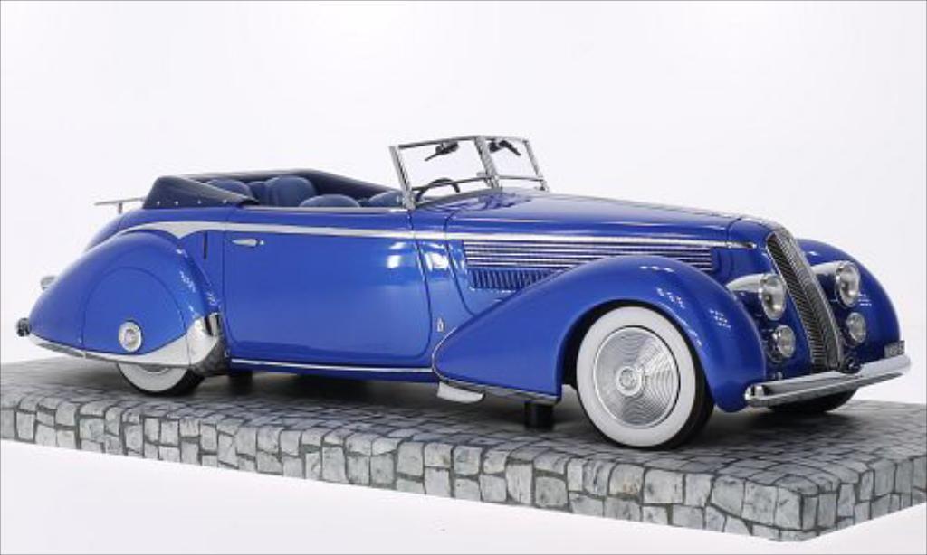 Lancia Astura 1/18 Minichamps Tipo 233 Corto metallise bleu RHD 1936 miniature