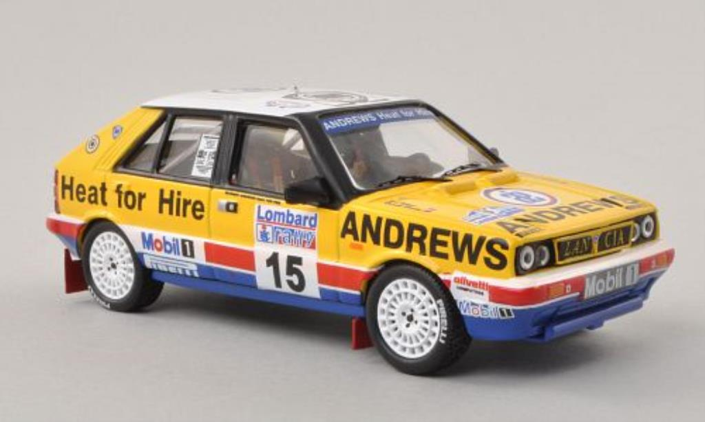 lancia delta miniature hf 4wd andrews rac rally 1987 n wilson ixo 1 43 voiture. Black Bedroom Furniture Sets. Home Design Ideas