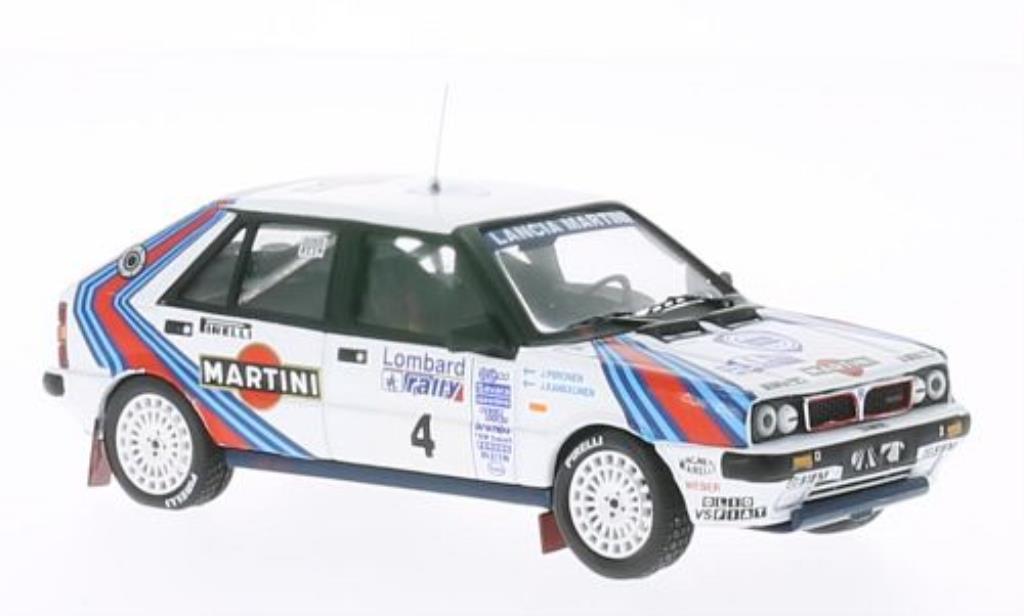 Lancia Delta 1/43 IXO HF 4Wd No.4 Martini RAC Rally 1987 /Piironen miniature
