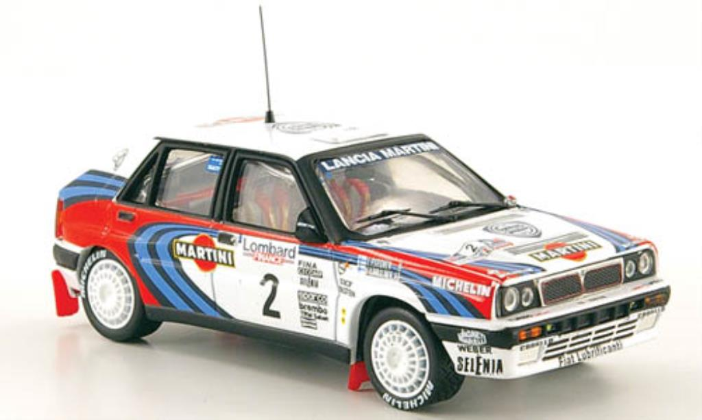 Lancia Delta 1/43 Vitesse Integrale 16V No.2 Martini Rally England 1991 /Piironen miniature