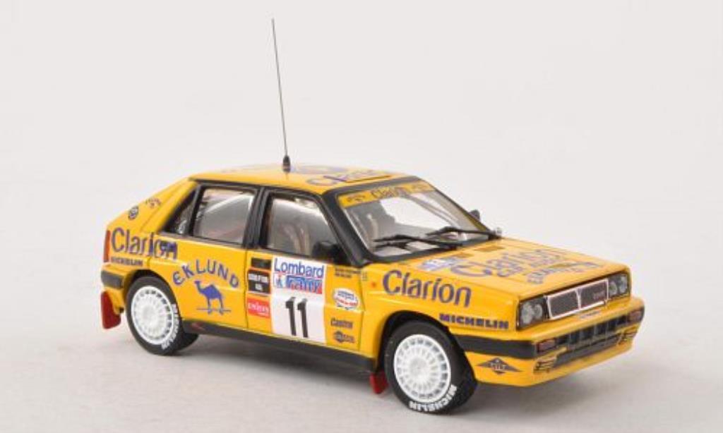 lancia delta miniature integrale clarion rac rally 1989 b cederberg vitesse 1 43. Black Bedroom Furniture Sets. Home Design Ideas