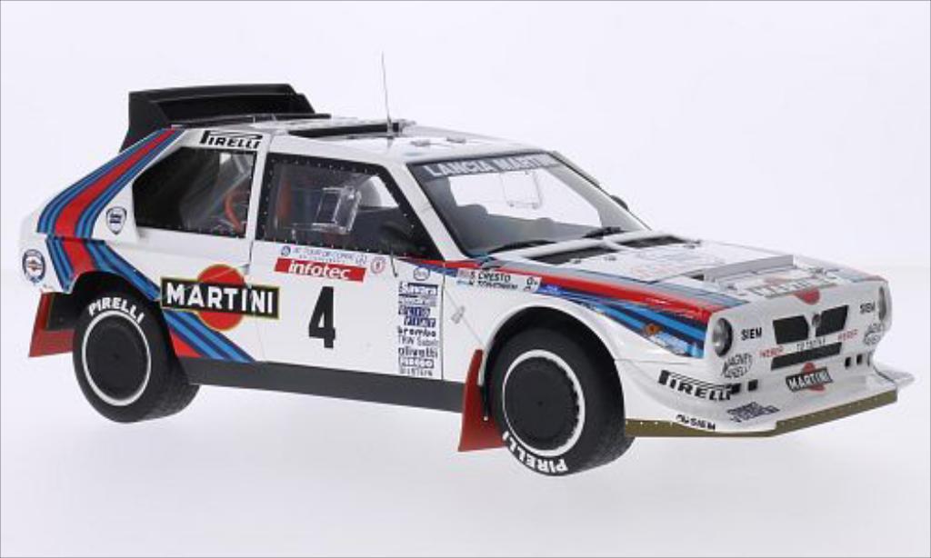 Lancia Delta S4 1/18 Autoart No.4 Martini Martini Tour de Corse 1986 /S.Cresto miniature
