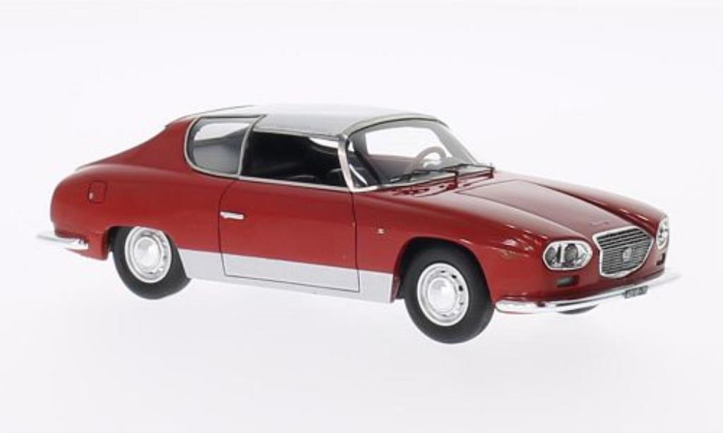 Lancia Flavia 1/43 Neo Sport Zagato rouge/grise 1963 miniature