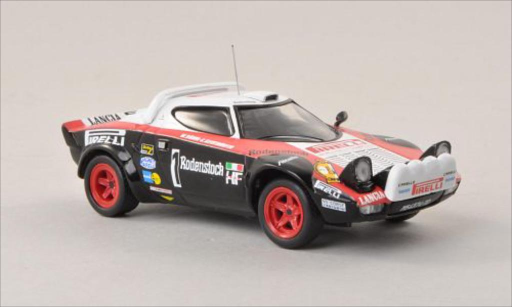 Lancia Stratos 1/43 IXO No.1 Rallye Hunsruck 1978 miniature