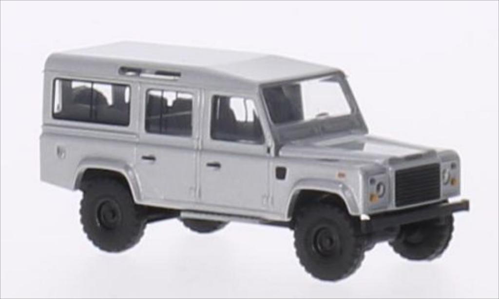 Land Rover Defender 1/87 Busch 110 Station Wagon grise miniature