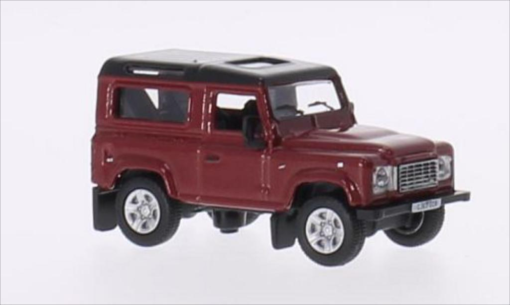 Land Rover Defender 1/76 Oxford 90 metallic-rouge/metallic-noire RHD miniature