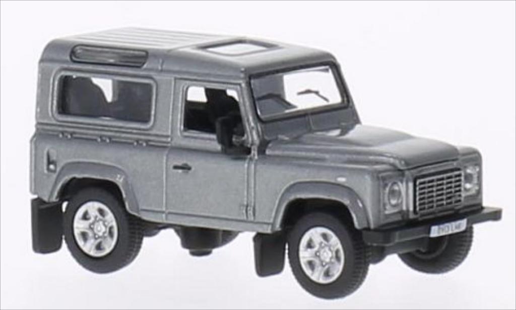 Land Rover Defender 1/76 Oxford 90 Station Wagon metallic-grise RHD 2013 miniature