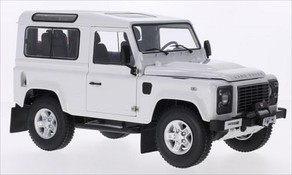 land rover defender miniature 90 blanche kyosho 1 18 voiture. Black Bedroom Furniture Sets. Home Design Ideas
