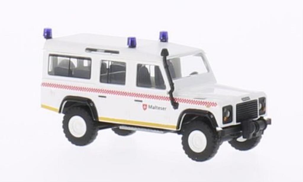 Land Rover Defender 1/87 Busch Malteser miniature
