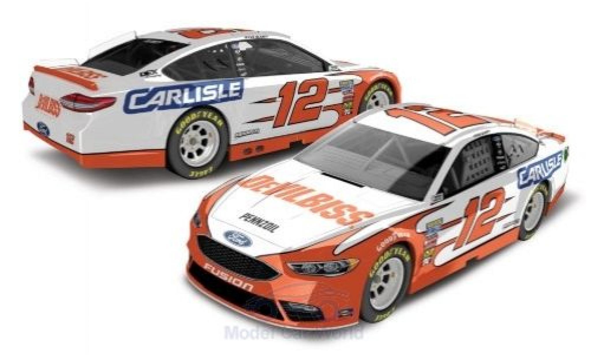 Ford Fusion 1/64 Lionel Racing No.12 Team Penske Carlisle Nascar 2018 R.Blaney