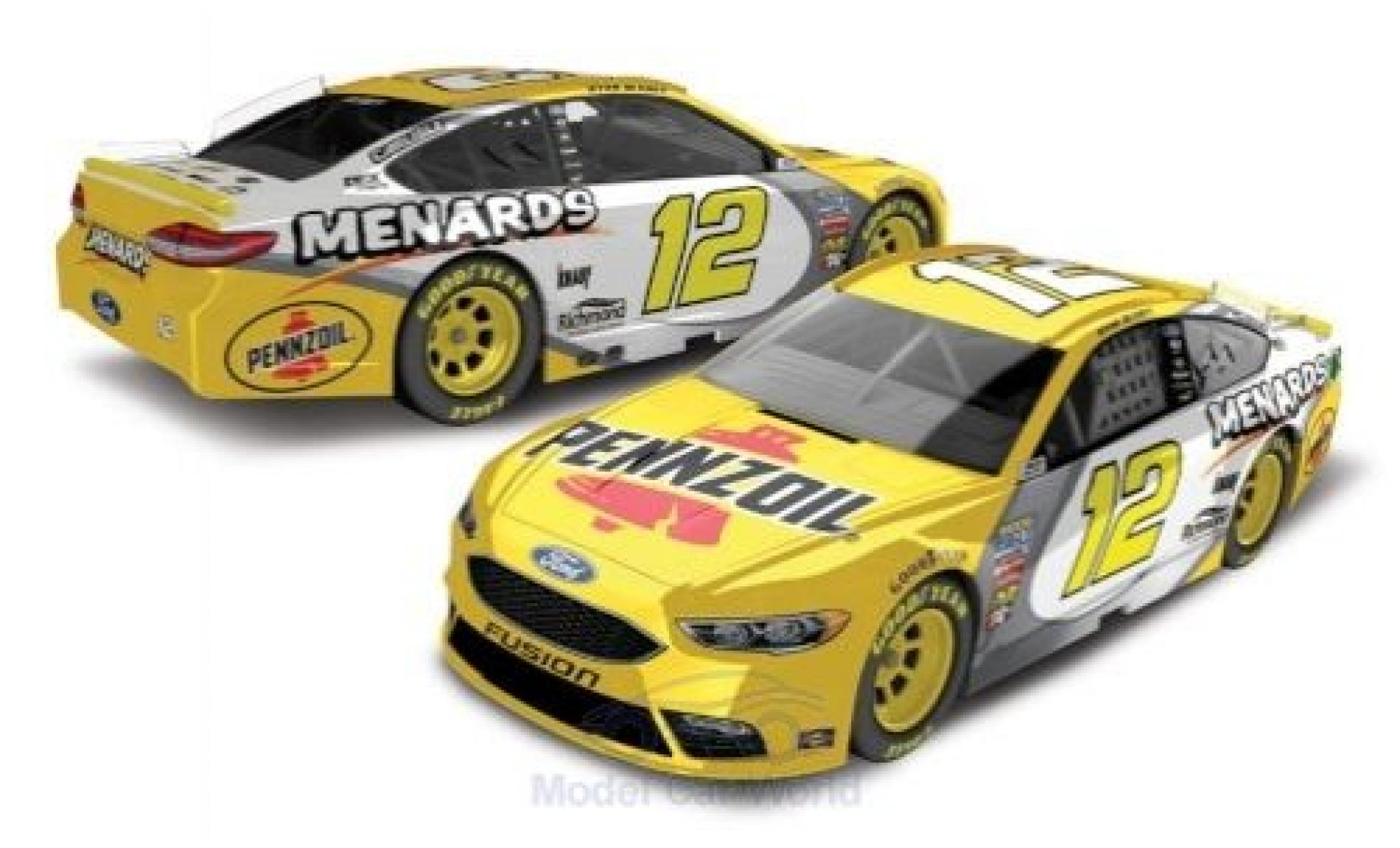 Ford Fusion 1/64 Lionel Racing No.12 Team Penske Pennzoil Nascar 2018 R.Blaney