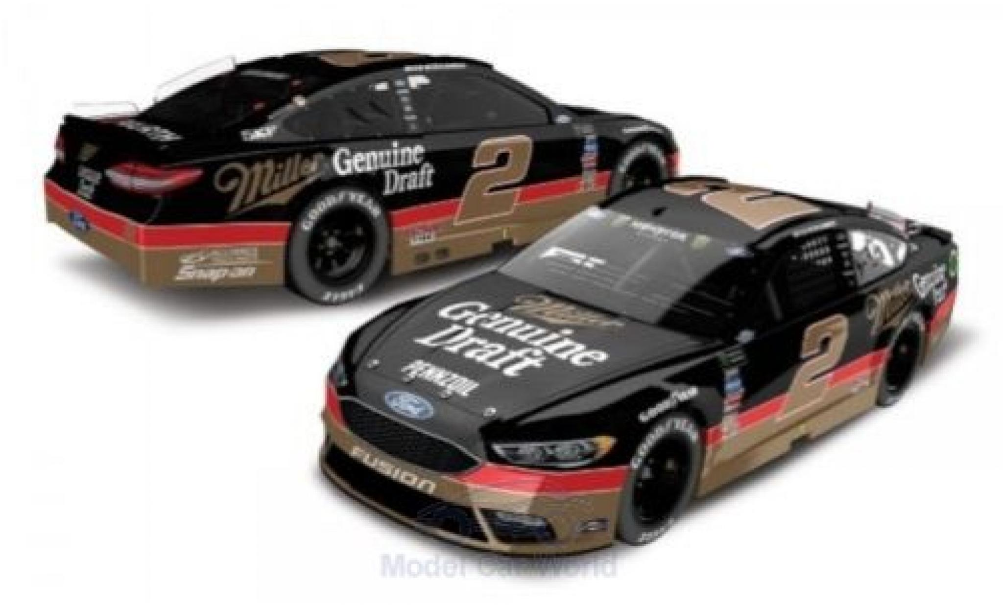 Ford Fusion 1/64 Lionel Racing No.2 Team Penske Miller Genuine Draft Nascar 2018 B.Keselowski
