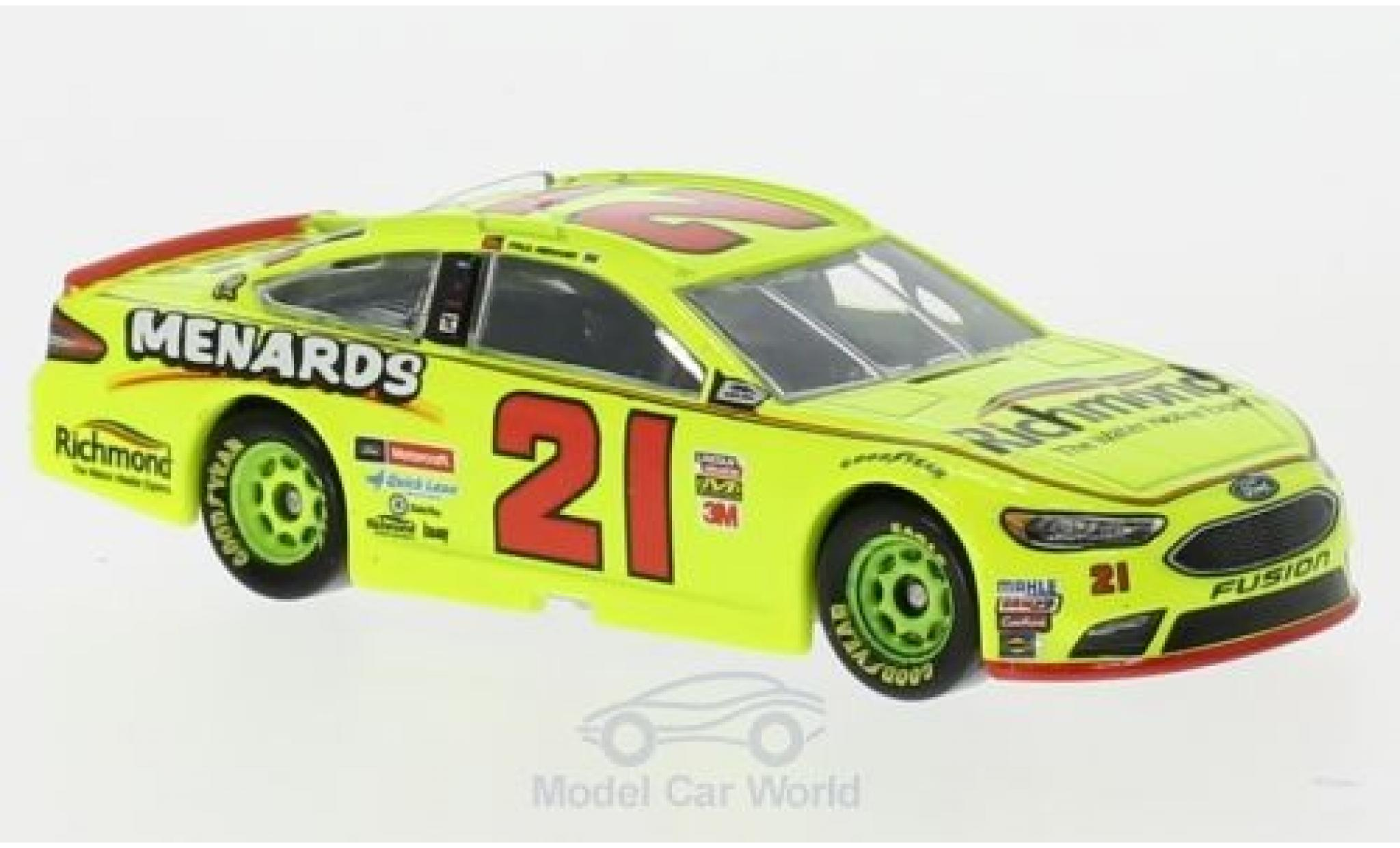 Ford Fusion 1/64 Lionel Racing No.21 21 Wood Brougehers Menards Nascar 2018 P.Menard