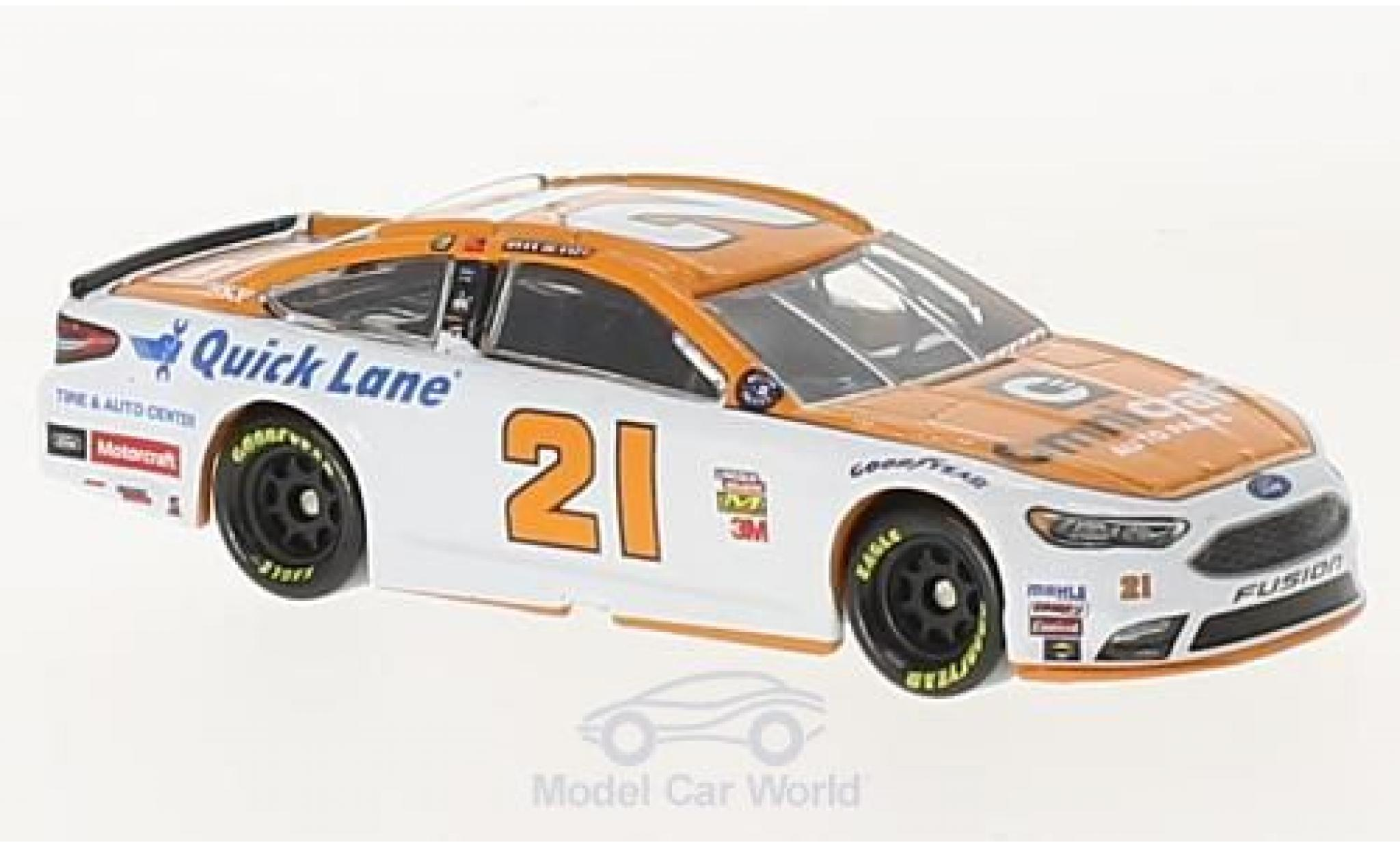 Ford Fusion 1/64 Lionel Racing No.21 Wood 21brougehers Omnicraft Nascar 2017 R.Blaney ohne Vitrine