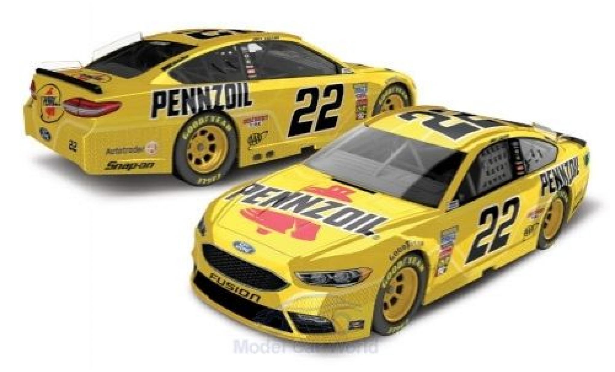 Ford Fusion 1/64 Lionel Racing No.22 Team Penske Pennzoil Nascar 2018 J.Logano