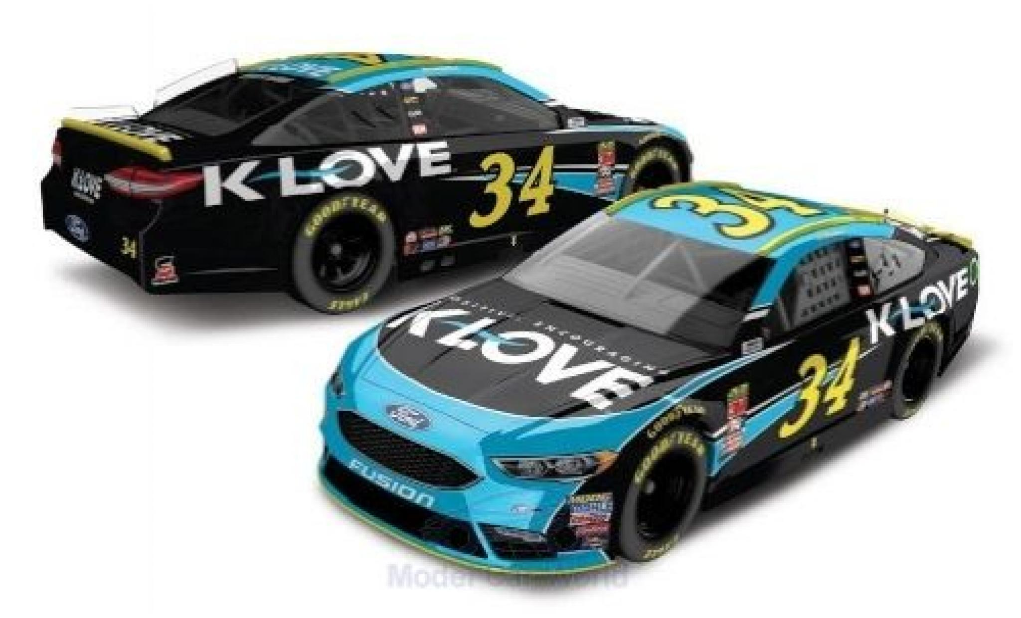 Ford Fusion 1/64 Lionel Racing No.34 FrontRow Motorsports K-Love Nascar 2018 M.McDowell