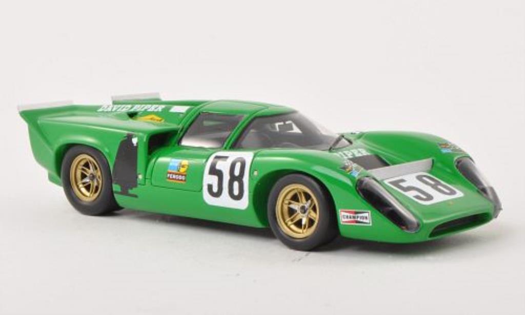 Lola T70 1/43 Spark MK3B No.58 David Piper Vainqueur Magny-Cours 1970 miniature