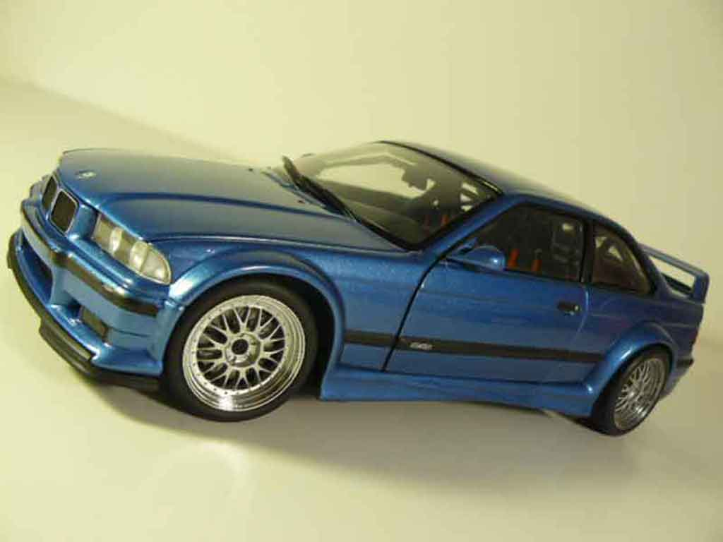 Bmw M3 E36 GTR blue estoril Ut Models. Bmw M3 E36 GTR blue estoril miniature 1/18